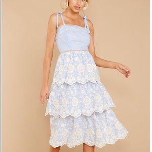 Summer blue\white midi dress